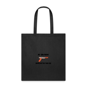 Girlfriend Snipes Better T-Shirt. Retro Gaming - Tote Bag