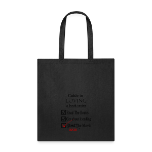 Guide To Loving A Book Series (Black) - Tote Bag