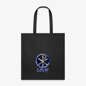 paxmundi space city lights love - Tote Bag