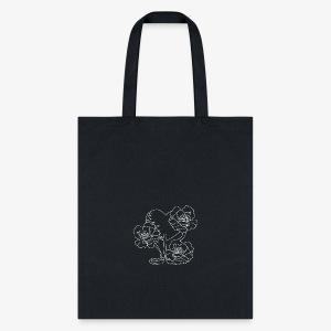 White Treasure Blossom Heart Outline - Tote Bag