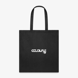 Coldwave Logo with (half) Vinyl - White - Tote Bag