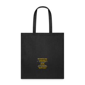 tshirt_pilotVersion_nologo_gold - Tote Bag