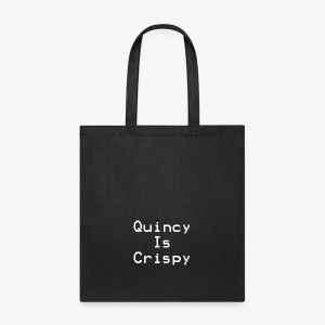 QuincyIsCrispy Text Logo (White) - Tote Bag