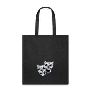 COMEDY TRAGEDY SKULLS - Tote Bag