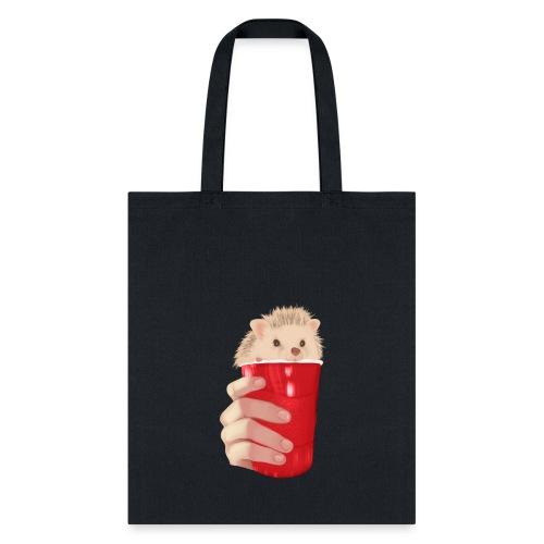 hedgehog drink - Tote Bag
