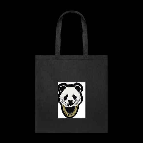 A fly panda with a gold chain - Tote Bag