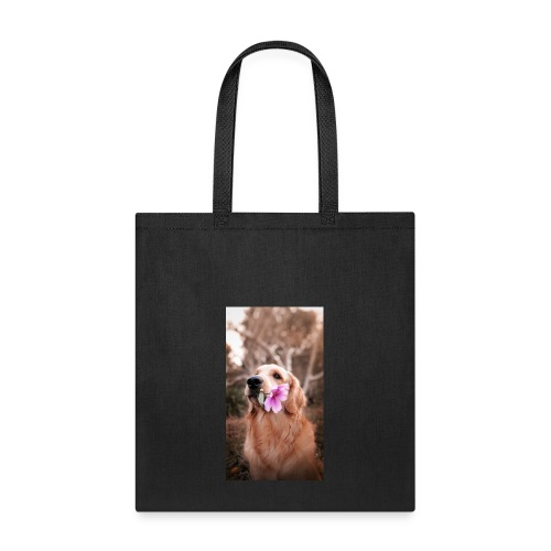 Golden with flower - Tote Bag