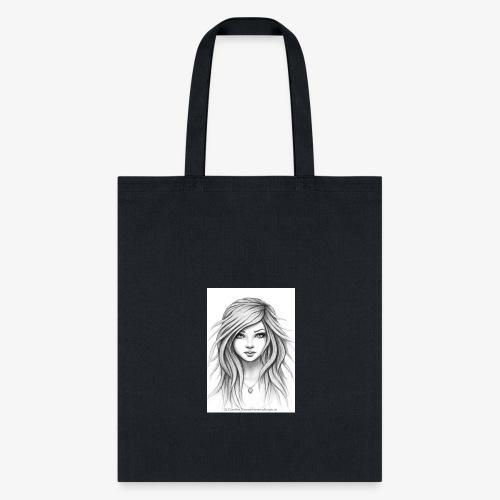 drawn sketch female 16 - Tote Bag