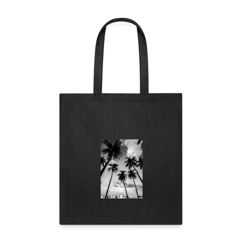 Black and white palm tree - Tote Bag