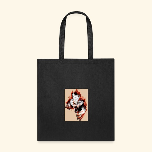 Teared Wolf picture on Accessories - Tote Bag