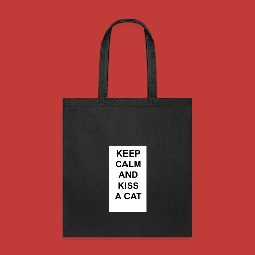 Keep calm and kiss a cat - Tote Bag