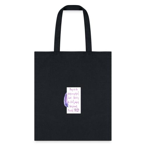 Proverbs 19:21 women pin - Tote Bag