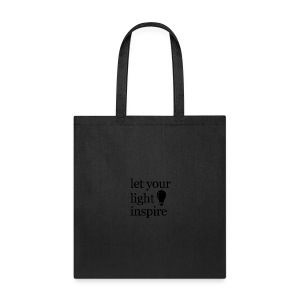 Let Your Light Inspire Sports Tank (black font) - Tote Bag