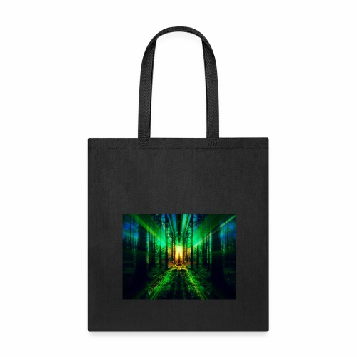 Into the Woods - Mirrored Forest Print - Tote Bag