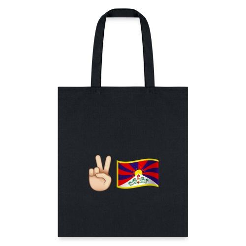 Tibetan Flag E moji - Tibet Flag - Tote Bag