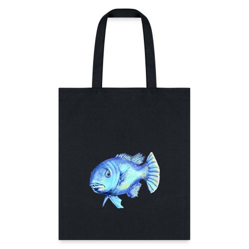 blue fish - Tote Bag
