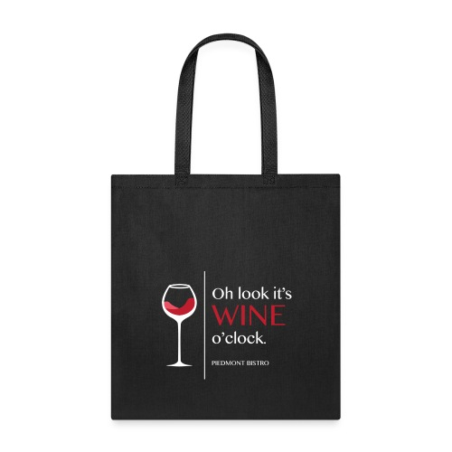 Oh Look it's Wine O'Clock by Kassondra WHITE - Tote Bag