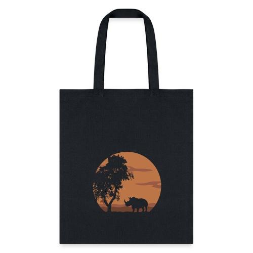 Rhino landscape - Tote Bag