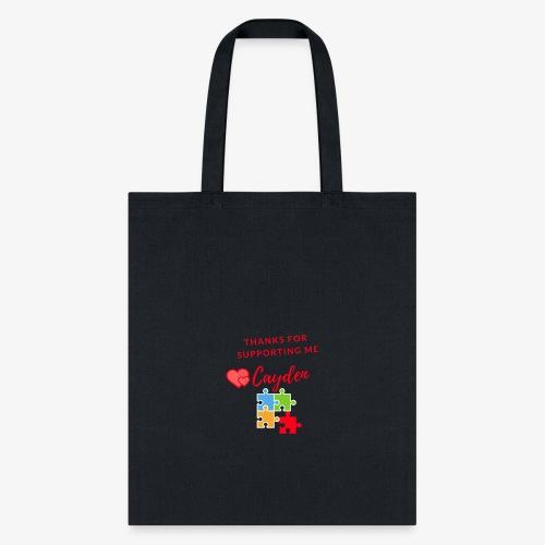 Cayden Autism Awareness Thank You - Tote Bag