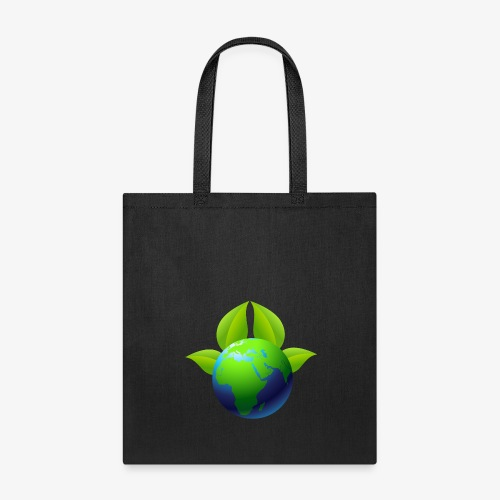 Earth with Leaves - Save the planet - Tote Bag