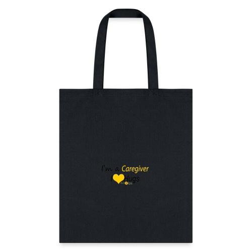 Caregiver Hugs - Yellow - Tote Bag