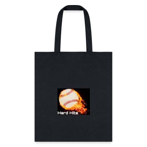 Hard Hits flames baseball edition - Tote Bag