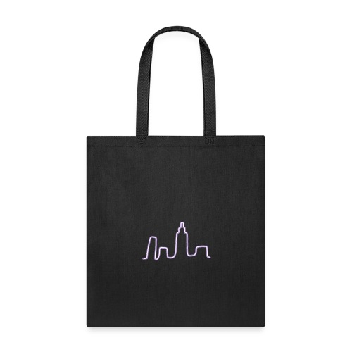 City Scape Neon Lights - Tote Bag