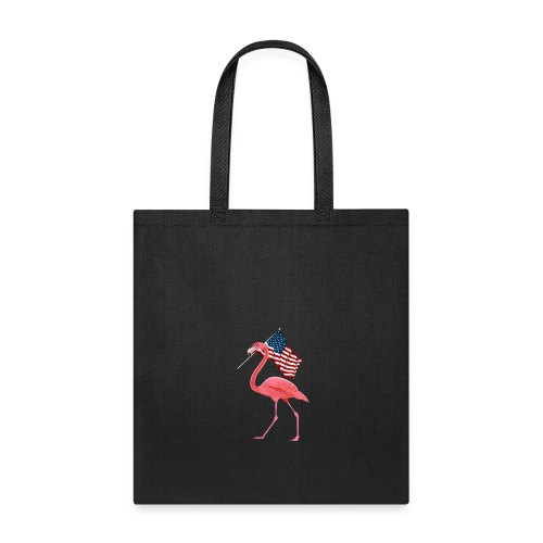 Flamingo 4th of July T-Shirt Patriotic Vintage Fla - Tote Bag
