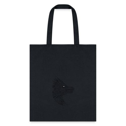 black art deco dragon head - Tote Bag