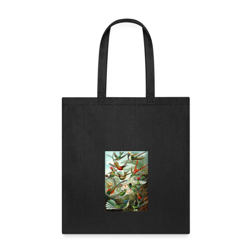 Exotic Bird Scene Vintage Print Colorful - Tote Bag