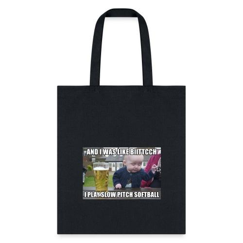 I play softball - Tote Bag
