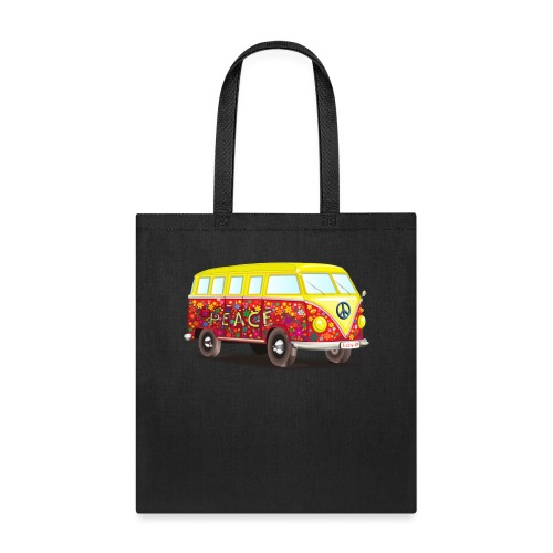 hippie peace and cool fun awesome illustration - Tote Bag