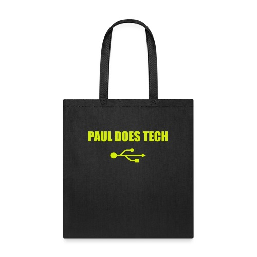 Paul Does Tech Yellow Logo With USB (MERCH) - Tote Bag