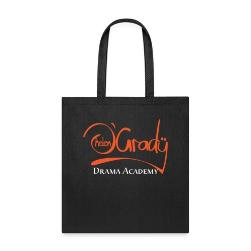 Helen O'Grady Orange Logo on Black - Tote Bag