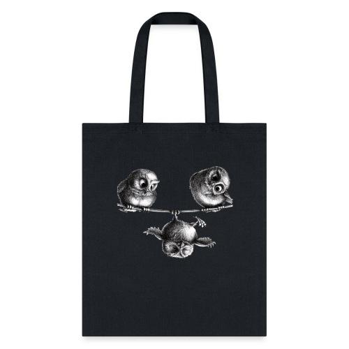 three owls - freedom and fun - Tote Bag