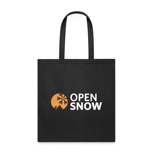 OpenSnow Logo Horizontal White - Tote Bag