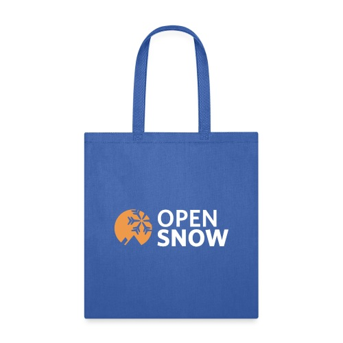 OpenSnow Logo Horizontal White - Tote Bag