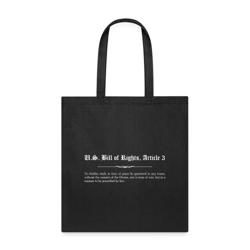U.S. Bill of Rights - Article 3 - Tote Bag