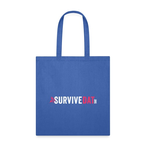 survive dat final logo horizontal pink white notag - Tote Bag