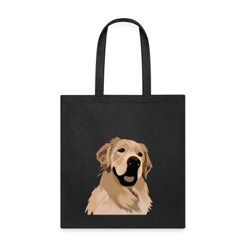 Hand illustrated golden retriever print / goldie - Tote Bag