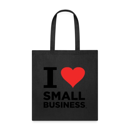 I Heart Small Business (Black & Red) - Tote Bag