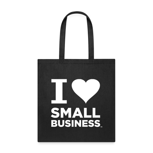 I Heart Small Business Logo (All White) - Tote Bag