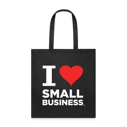I Heart Small Business Logo (Red & White) - Tote Bag