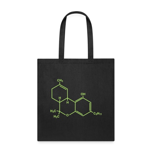 Marijuana (THC) Molecule - Tote Bag