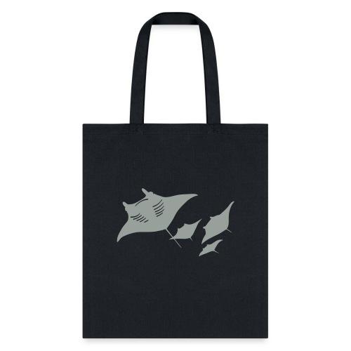 manta ray sting scuba diving diver dive - Tote Bag