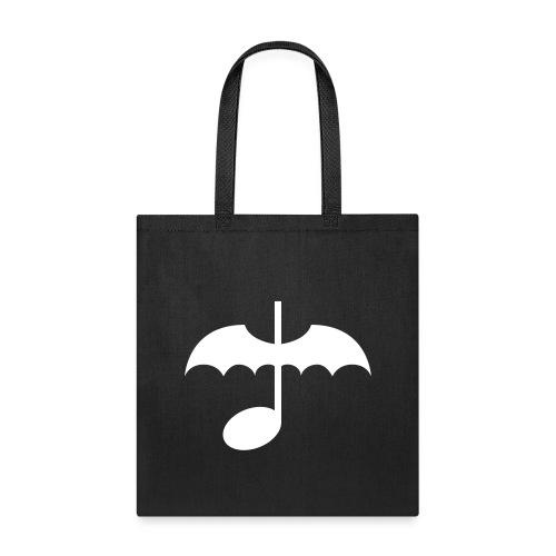 Music Note with Bat Wings - Tote Bag