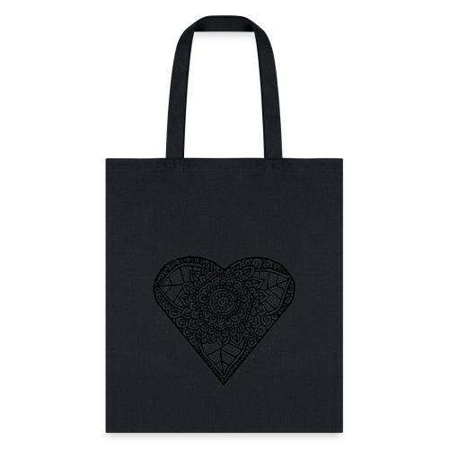 Floral Heart Tshirt - Tote Bag