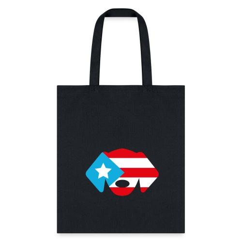 Puerto Rico Flag Dog Head - Tote Bag