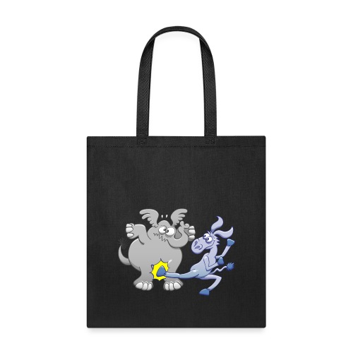Democrat Donkey Kicking Republican Elephant - Tote Bag