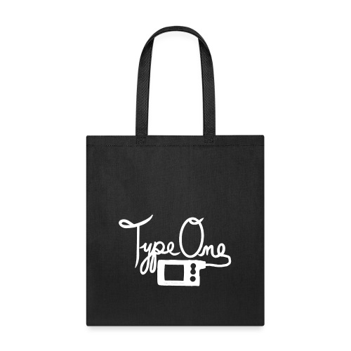 Type One - Insulin Pump 2- White - Tote Bag